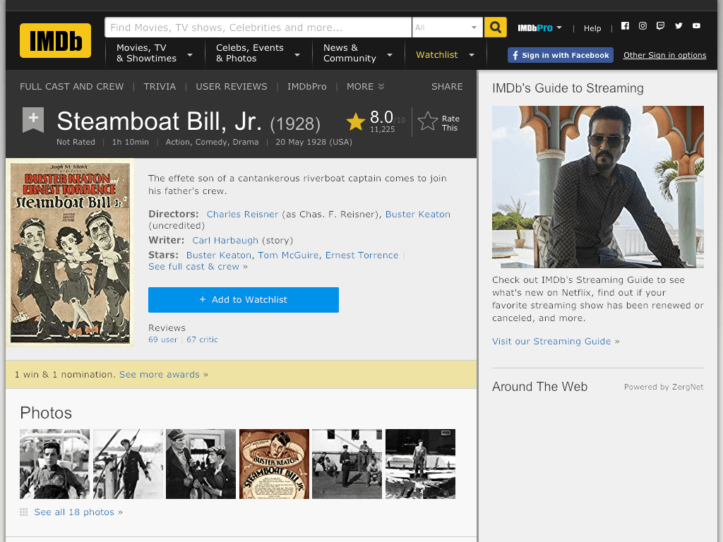 Steamboat Bill, Jr. Movie FREE