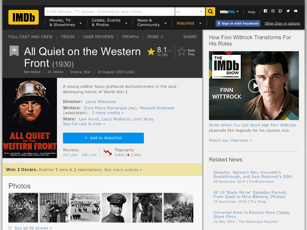 All Quiet on the Western Front Movie FREE