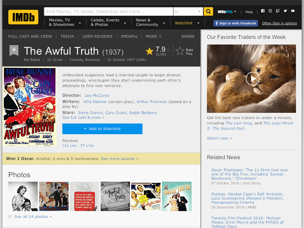 The Awful Truth Movie FREE