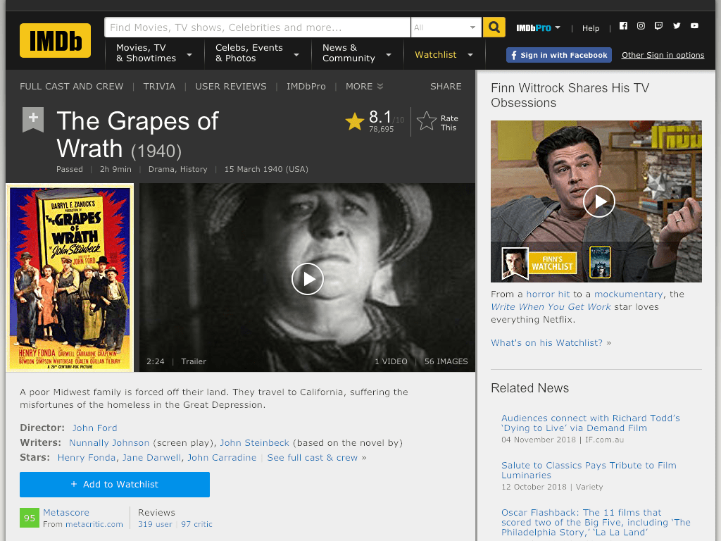 The Grapes of Wrath Movie FREE