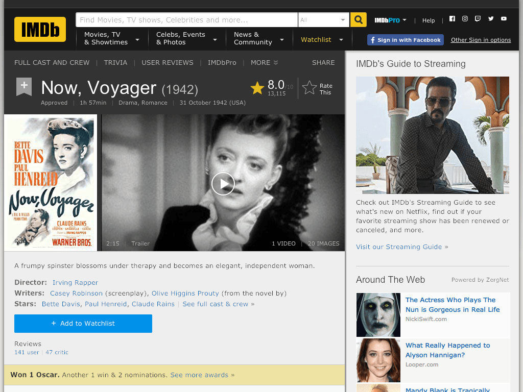 Now, Voyager Movie FREE