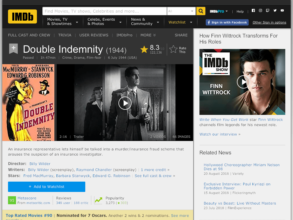 Double Indemnity Movie FREE