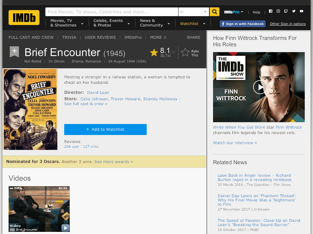Brief Encounter Movie FREE