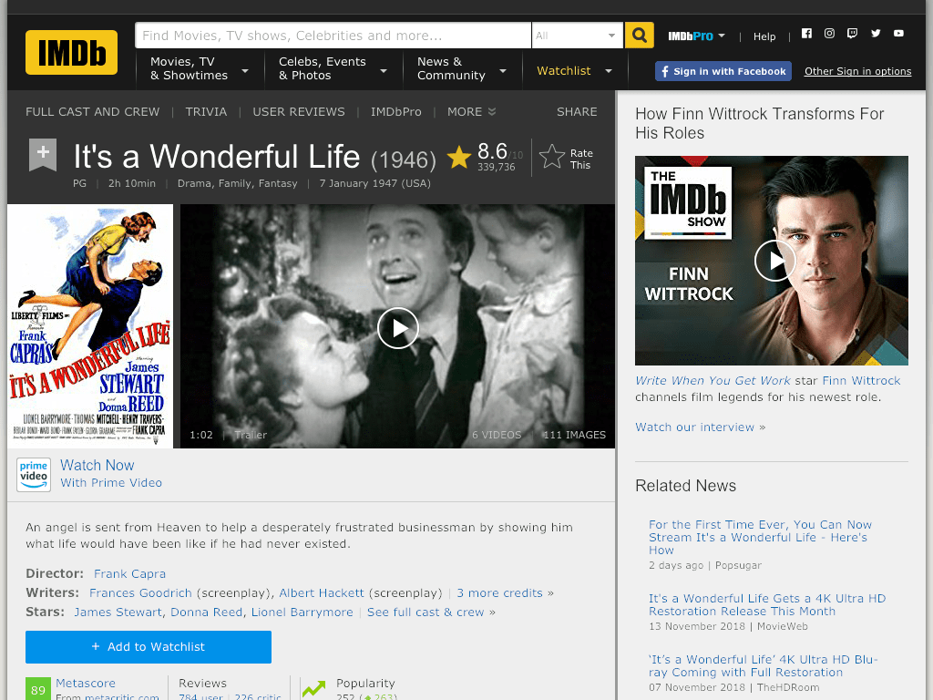 It's a Wonderful Life Movie FREE