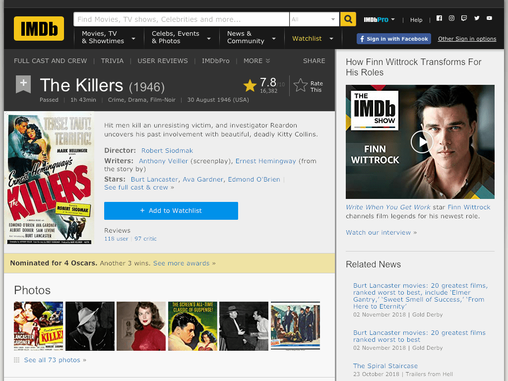 The Killers Movie FREE