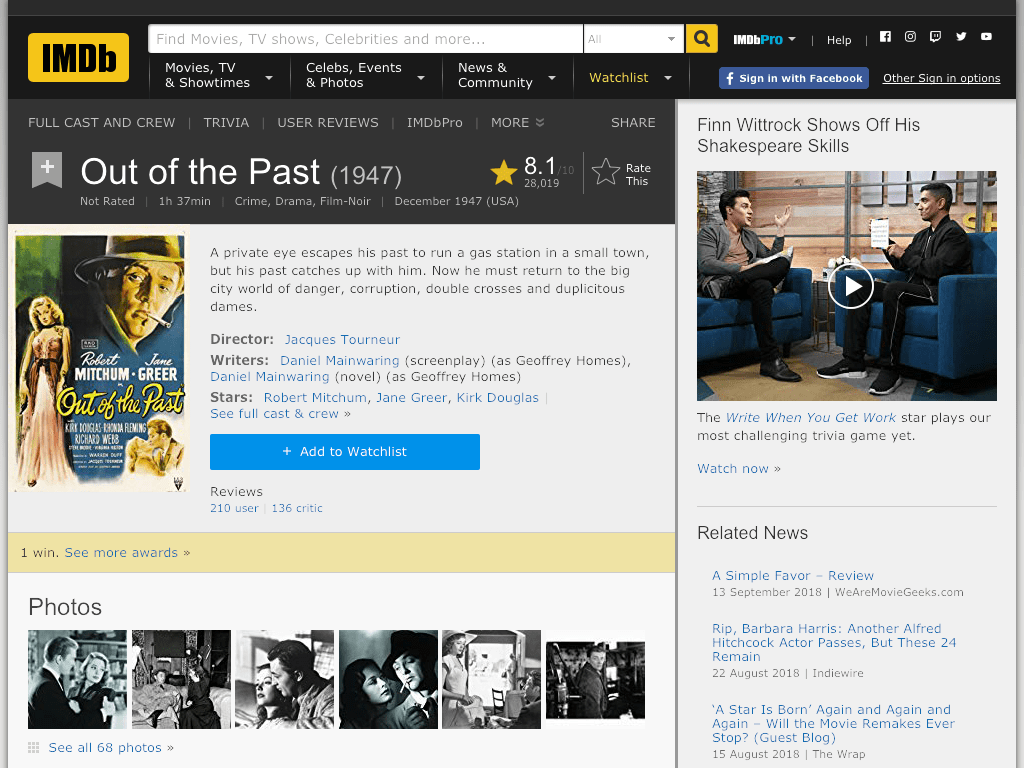 Out of the Past Movie FREE