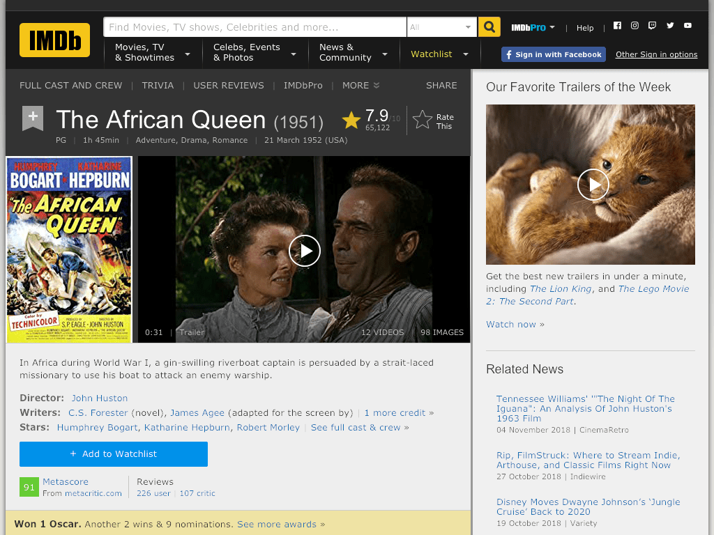 The African Queen Movie FREE