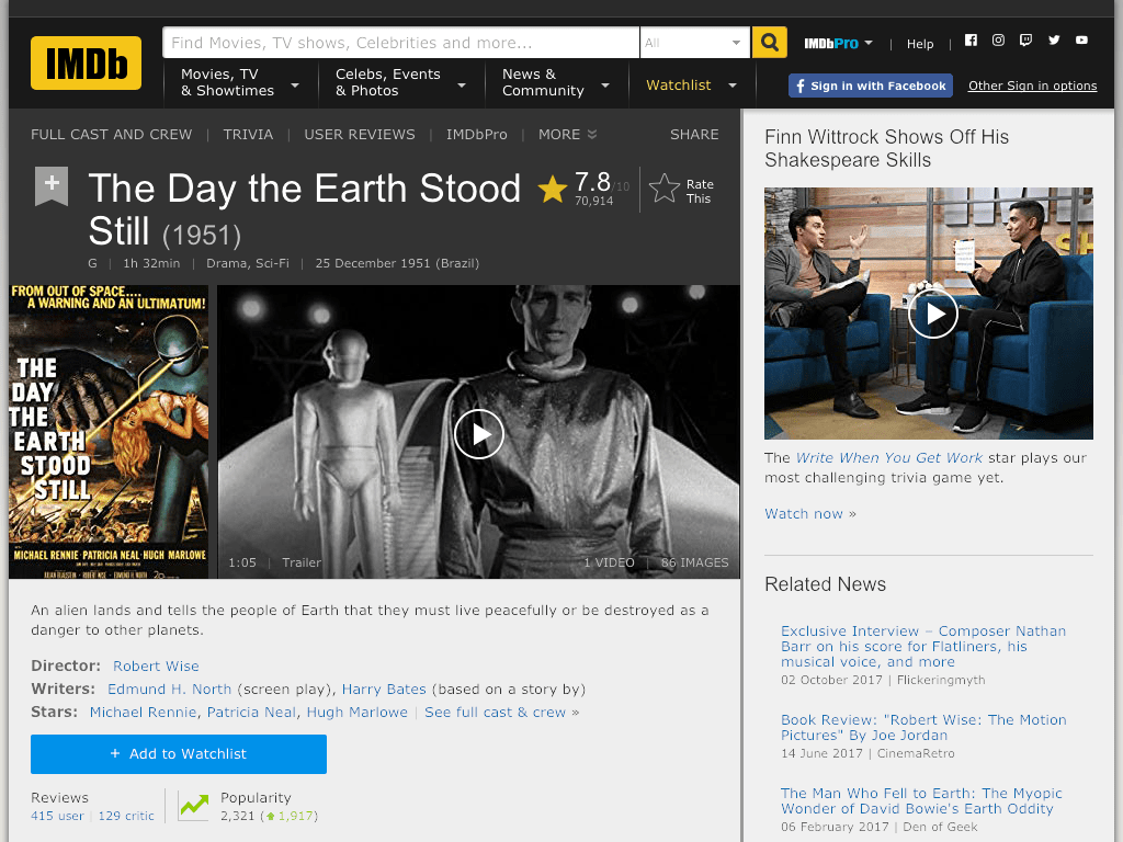 The Day the Earth Stood Still Movie FREE