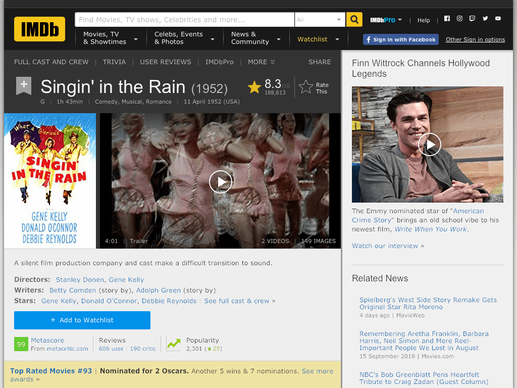 Singin' in the Rain Movie FREE