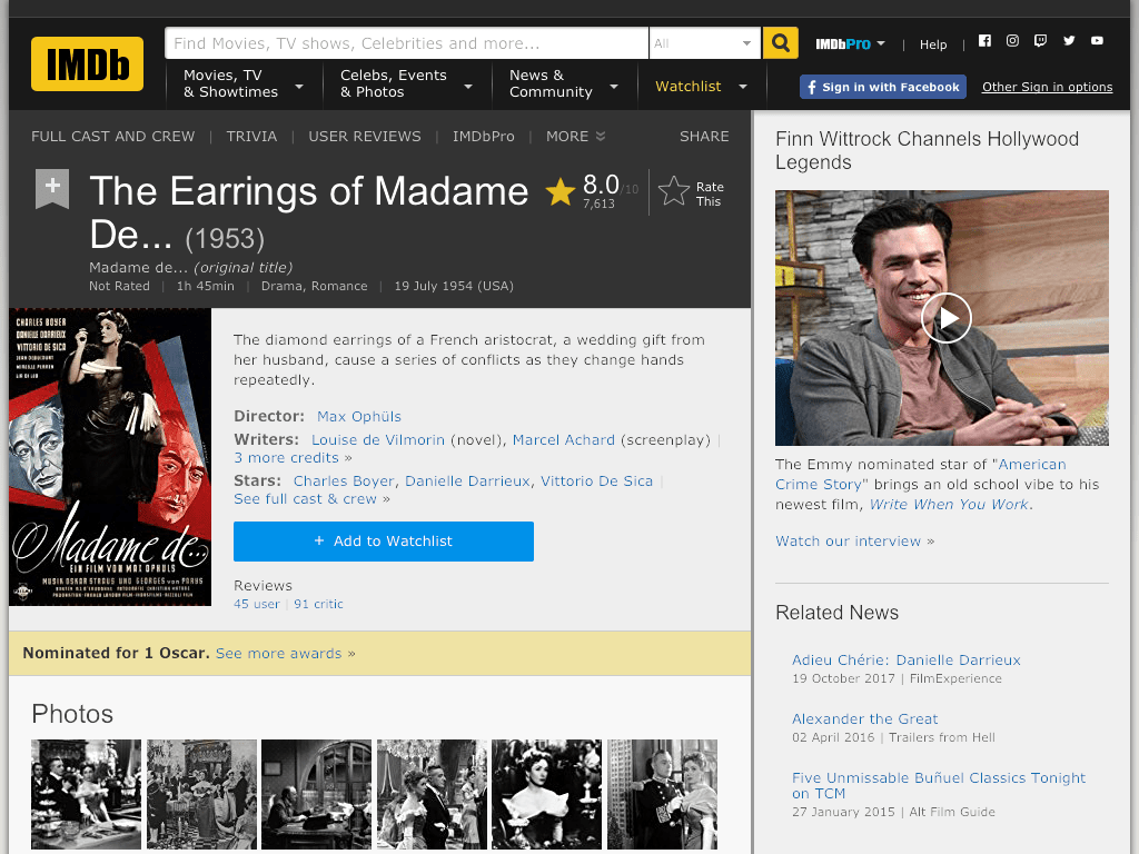 Madame de... Movie FREE