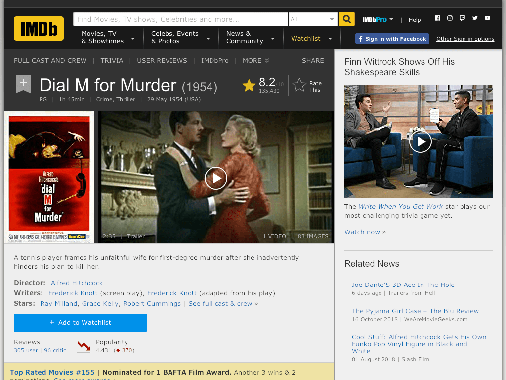 Dial M for Murder Movie FREE