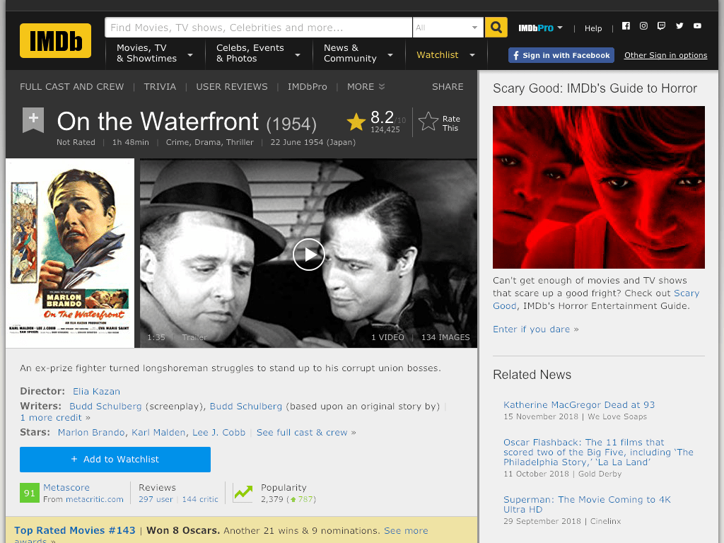 On the Waterfront Movie FREE
