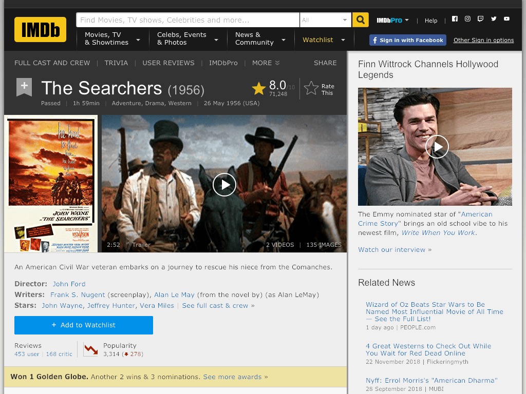 The Searchers Movie FREE