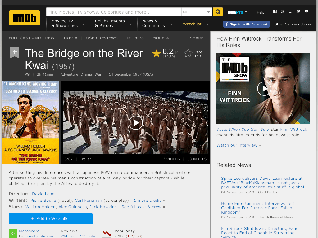 The Bridge on the River Kwai Movie FREE