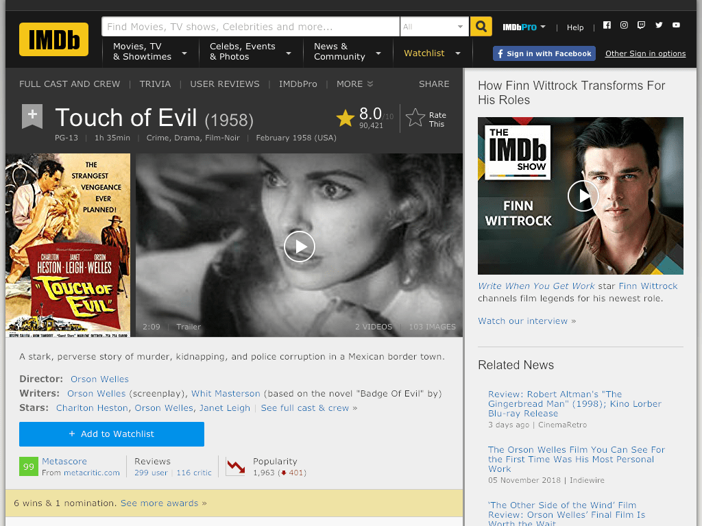 Touch of Evil Movie FREE