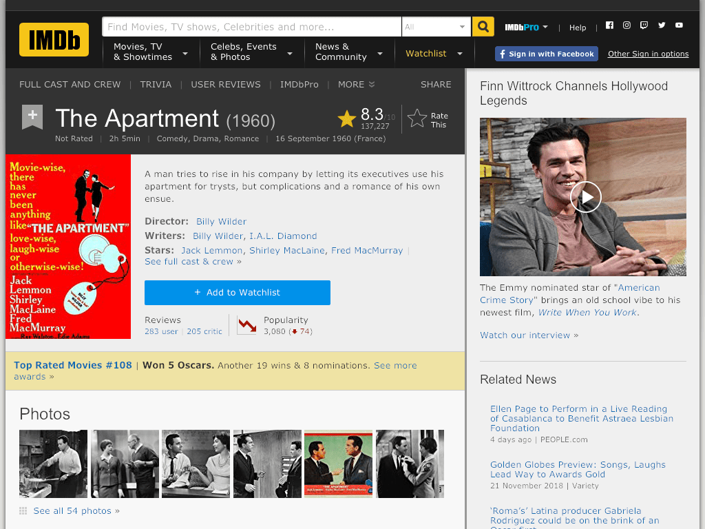 The Apartment Movie FREE