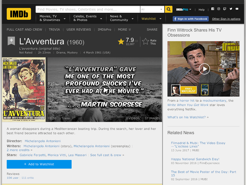 L'avventura Movie FREE