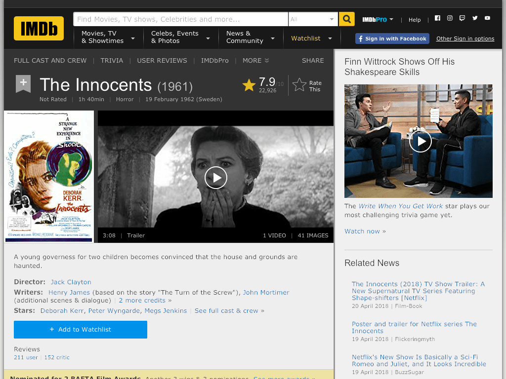 The Innocents Movie FREE