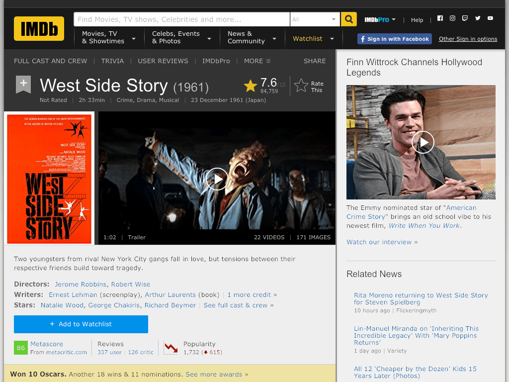 West Side Story Movie FREE