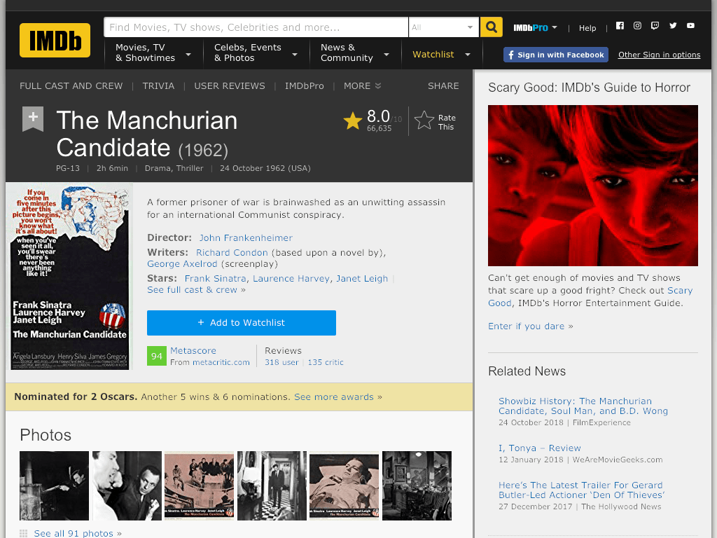 The Manchurian Candidate Movie FREE