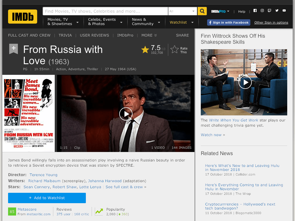 From Russia with Love Movie FREE