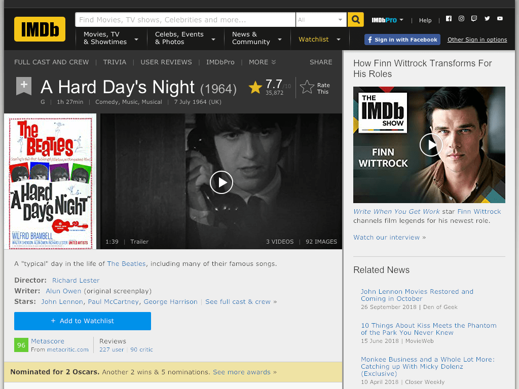 A Hard Day's Night Movie FREE