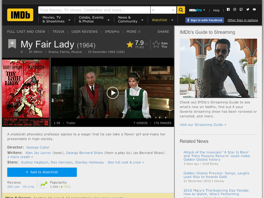 My Fair Lady Movie FREE