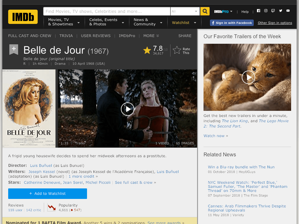 Belle de jour Movie FREE