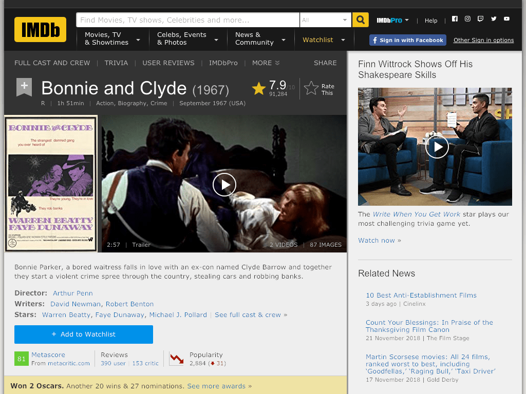 Bonnie and Clyde Movie FREE