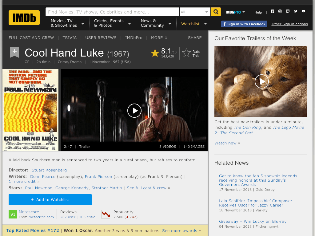 Cool Hand Luke Movie FREE