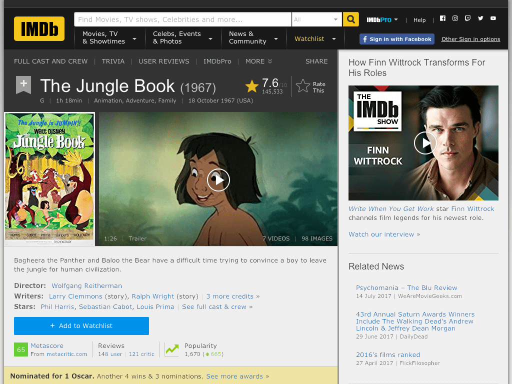 The Jungle Book Movie FREE