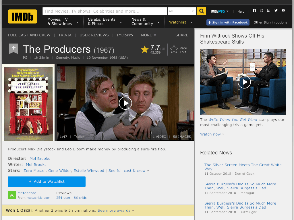 The Producers Movie FREE