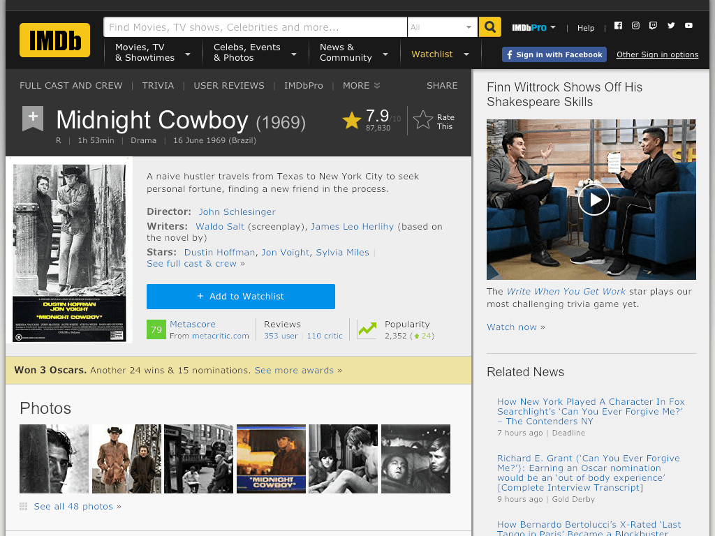 Midnight Cowboy Movie FREE