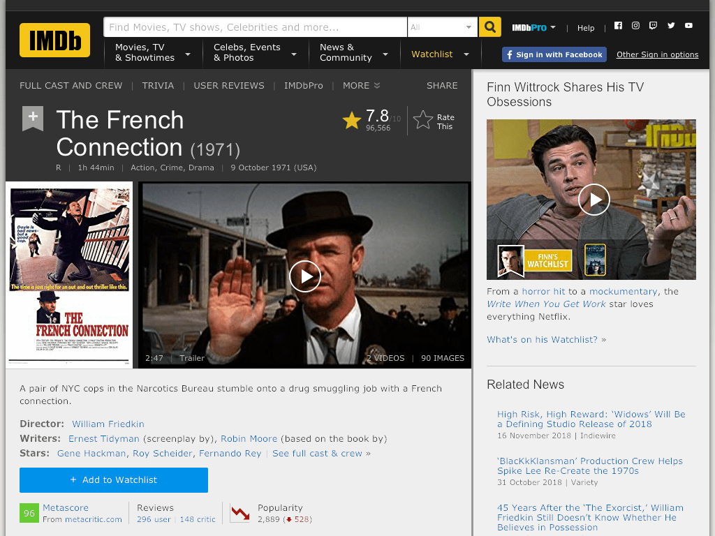 The French Connection Movie FREE