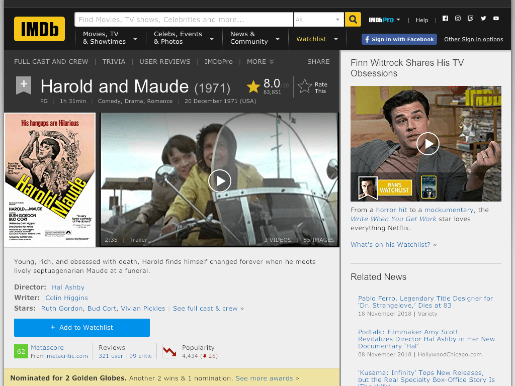Harold and Maude Movie FREE