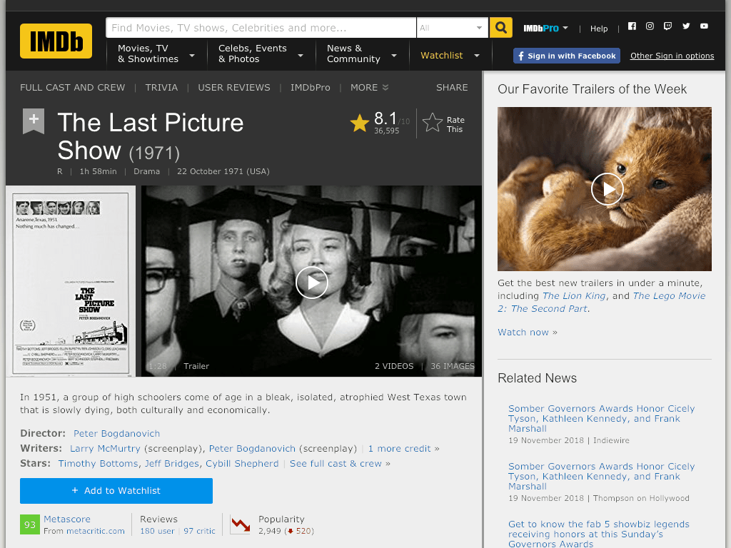 The Last Picture Show Movie FREE