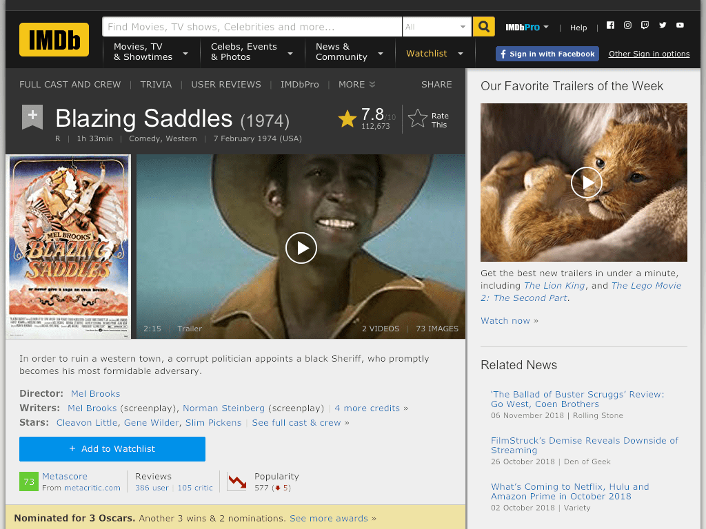 Blazing Saddles Movie FREE