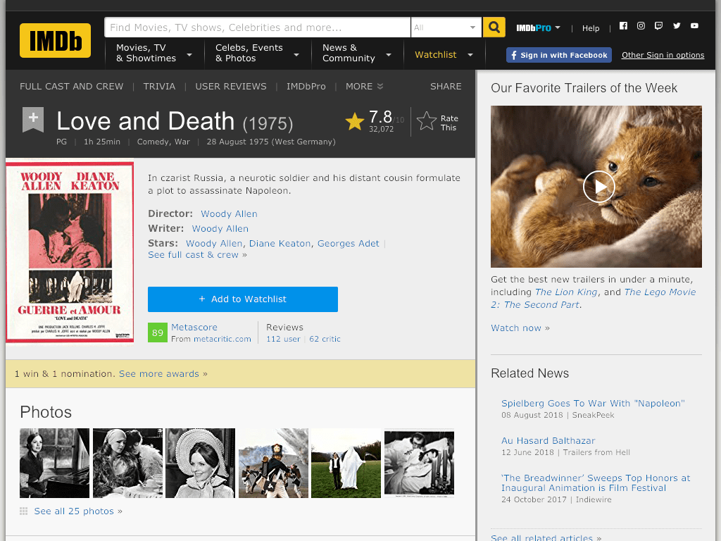 Love and Death Movie FREE