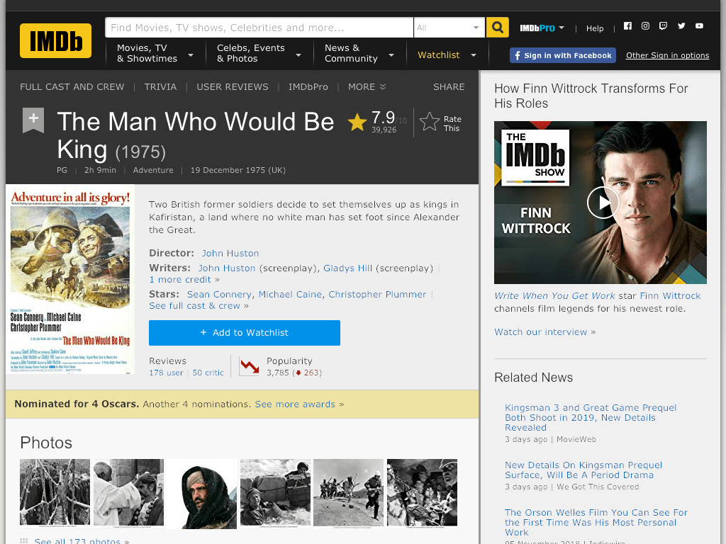 The Man Who Would Be King Movie FREE