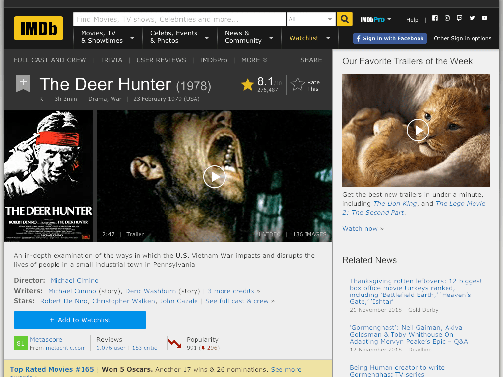 The Deer Hunter Movie FREE