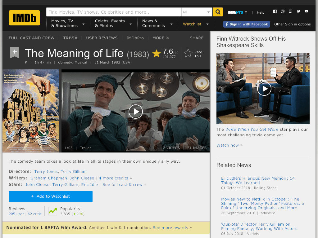 The Meaning of Life Movie FREE