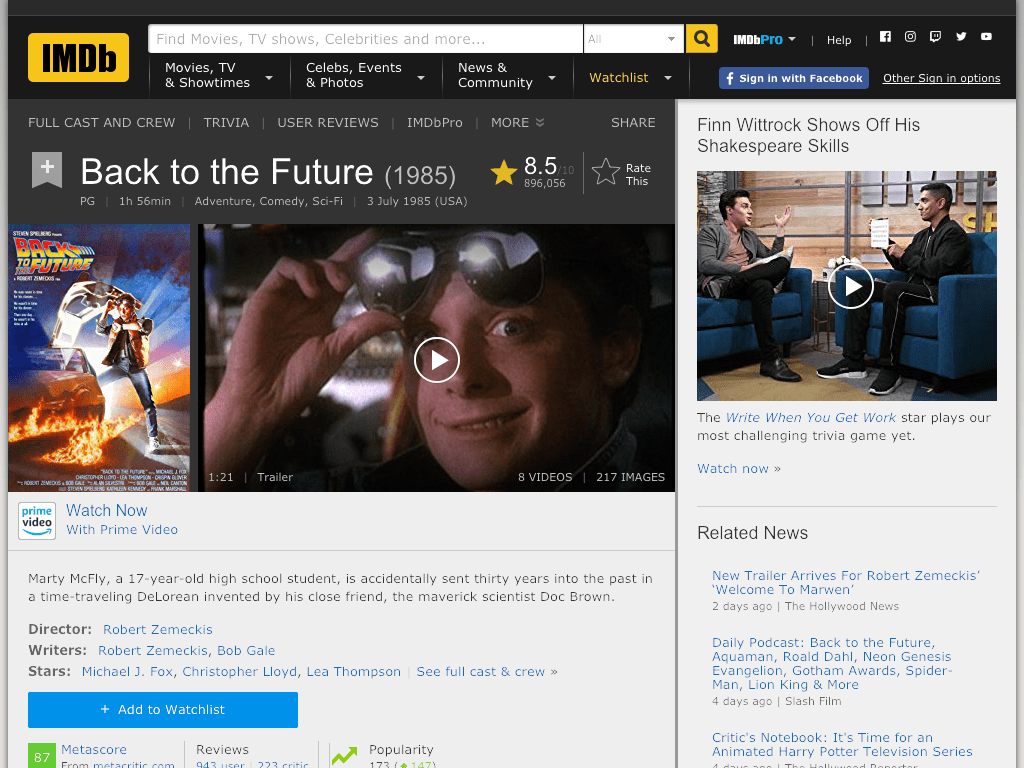 Back to the Future Movie FREE