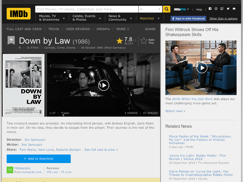 Down by Law Movie FREE