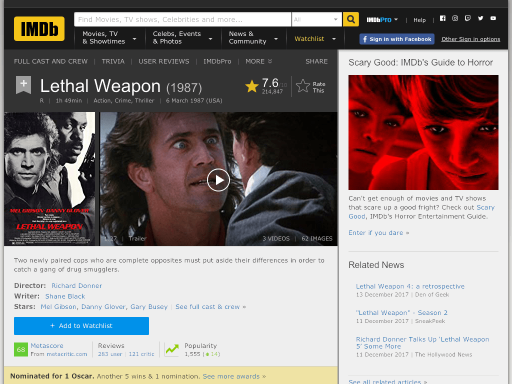 Lethal Weapon Movie FREE