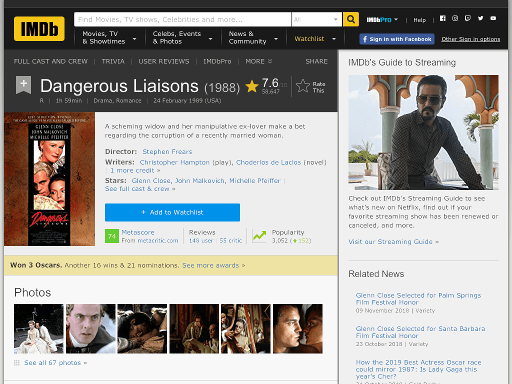 Dangerous Liaisons Movie FREE