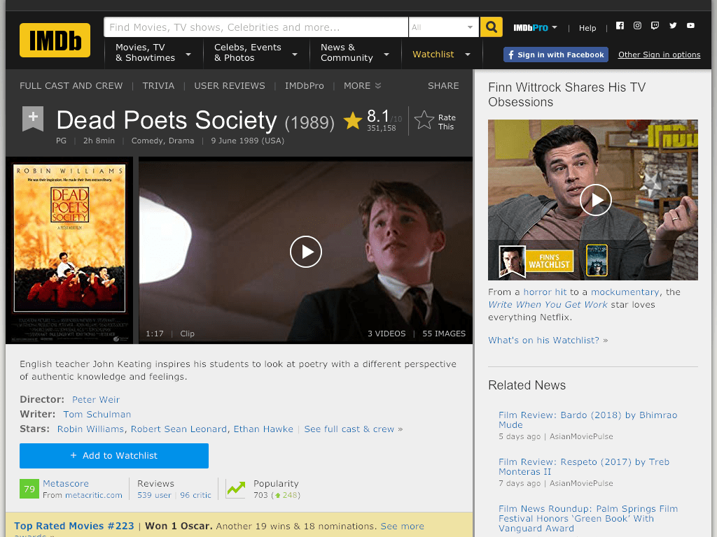 Dead Poets Society Movie FREE