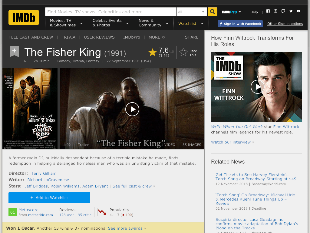 The Fisher King Movie FREE
