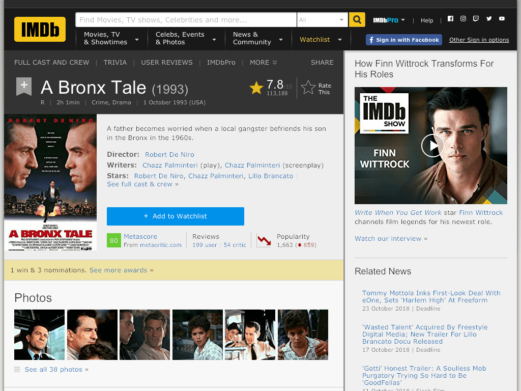 A Bronx Tale Movie FREE