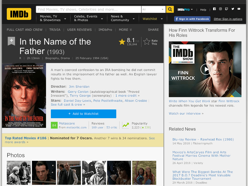 In the Name of the Father Movie FREE
