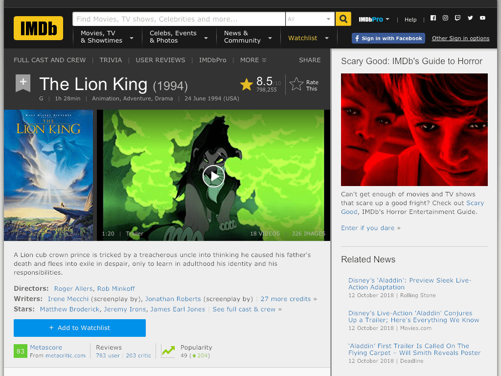The Lion King Movie - Watch Online and Download Free
